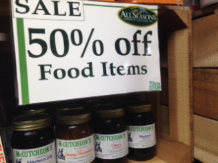 Food Items: 50% off