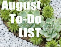 August To Do List